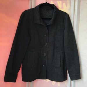Prana Catrina peacoat charcoal grey fleece